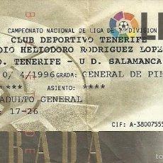 Coleccionismo deportivo: 14/4/1996:CD TENERIFE-UD SALAMANCA.HELIODORO RODRÍGUEZ LÓPEZ..J.36,1ª DIV. 1995/96. Lote 55315632