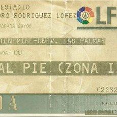 Coleccionismo deportivo: CD TENERIFE-UNIVERSIDAD DE LAS PALMAS.HELIDORO RODRÍGUEZ LÓPEZ.AGOSTO 1999.. Lote 55315774