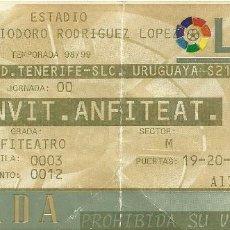 Coleccionismo deportivo: CD TENERIFE-SELECCIÓN URUGUAYA SUB 21.HELIODORO RODRÍGUEZ LÓPEZ.ANFITEATRO.1999.. Lote 55315784