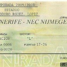 Coleccionismo deportivo: 22/8/2009:CD TENERIFE-NEC NIJMEGEN.HELIODORO RODRÍGUEZ LÓPEZ.PRESENTACIÓN TEMPORADA 2009/10.. Lote 55328148