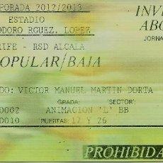 Coleccionismo deportivo: 12/5/2013:CD TENERIFE-RSD ALCALÁ.HELIODORO RODRÍGUEZ LÓPEZ.JORNADA 37 2ª DIVISIÓN B 2012/13.. Lote 55328193