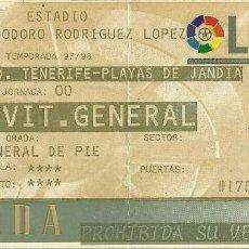 Coleccionismo deportivo: 12/8/1997:CD TENERIFE-PLAYAS DE JANDÍA.HELIODORO RODRÍGUEZ LÓPEZ.GENERAL DE PIÉ.. Lote 55347402