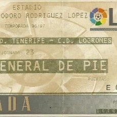 Coleccionismo deportivo: 9/2/1997:CD TENERIFE-CD LOGROÑÉS.HELIODORO RODRÍGUEZ LÓPEZ.J.23,1ª DIV. 1996/97.. Lote 55348988