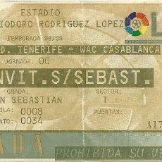 Coleccionismo deportivo: CD TENERIFE-WAC CASABLANCA.HELIODORO RODRÍGUEZ LÓPEZ.SAN SEBASTIAN.1998.. Lote 55349024