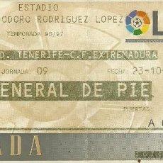 Coleccionismo deportivo: 23/10/1996:CD TENERIFE-CF EXTREMADURA.HELIODORO RODRIGUEZ LÓPEZ.J.9,1ª DIV. 1996/97.GENERAL DE PIÉ. . Lote 55349339