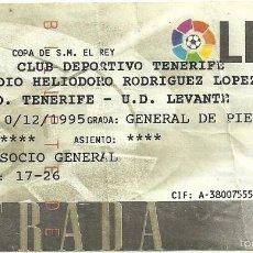 Coleccionismo deportivo: 13/12/1995:CD TENERIFE-UD LEVANTE.HELIODORO RODRIGUEZ LÓPEZ.COPA DEL REY.GENERAL DE PIÉ.. Lote 55349496