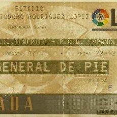 Coleccionismo deportivo: 22/12/1996:CD TENERIFE-RCD ESPAÑOL.HELIODORO RODRÍGUEZ LÓPEZ.J.17,1ª DIVISIÓN 1996/97.. Lote 55350190