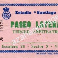 Coleccionismo deportivo: ANTIGUA ENTRADA REAL MADRID - U.D.SALAMANCA. Lote 57188546