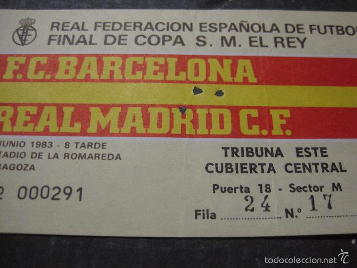 Coleccionismo deportivo: ENTRADA FINAL COPA DEL REY 1983 - BARCELONA - REAL MADRID - (V-5632) - Foto 2 - 56897833