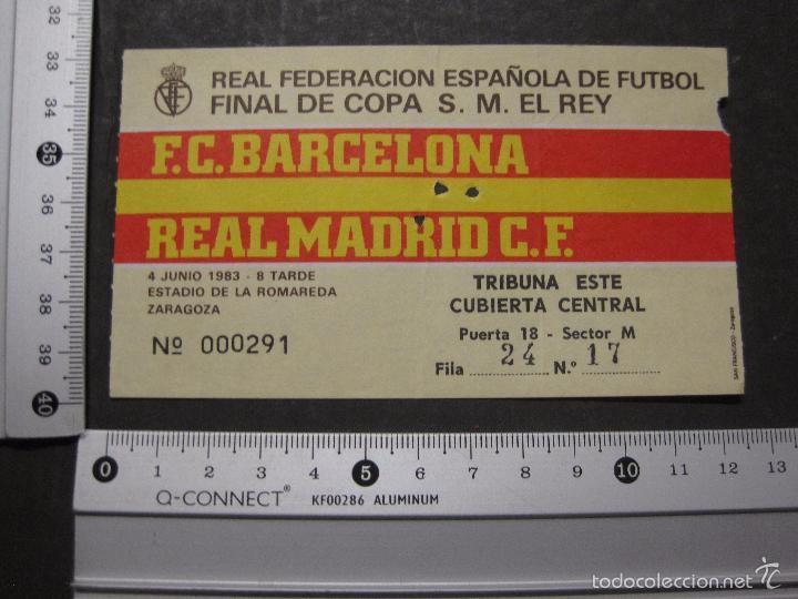 Coleccionismo deportivo: ENTRADA FINAL COPA DEL REY 1983 - BARCELONA - REAL MADRID - (V-5632) - Foto 4 - 56897833