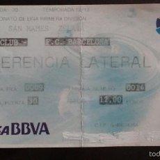 Coleccionismo deportivo: ENTRADA ATHLETIC CLUB BILBAO VS FC BARCELONA. Lote 56928702