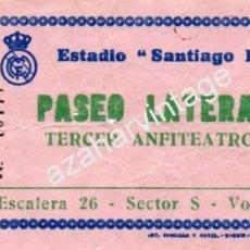 Coleccionismo deportivo: ANTIGUA ENTRADA REAL MADRID - U.D.SALAMANCA. Lote 56955617