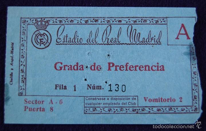 Antigua Entrada De Futbol Del Real Madrid Esta Kaufen Alte Fußball Tickets In Todocoleccion 56959584