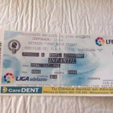 Coleccionismo deportivo: R515 ENTRADA TICKET HERCULES BARCELONA B LIGA TEMPORADA 2012 2013. Lote 57309872