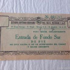 Coleccionismo deportivo: ENTRADA TICKET REAL MADRID WIENER COPA EUROPA 1958 1959. Lote 57382208