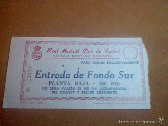 ENTRADA SOCIO 6 MARZO 1968 CUARTOS CHAMPIONS LEAGUE SANTIAGO BERNABEU REAL MADRID 3 SPARTA PRAHA 0 (Coleccionismo Deportivo - Documentos de Deportes - Entradas de Fútbol)