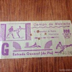 Coleccionismo deportivo: R564 ENTRADA TICKET MESTALLA RECREATIVO HUELVA AÑOS 60 70. Lote 57749816