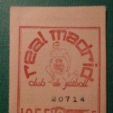 Coleccionismo deportivo: REAL MADRID - CUPÓN / ENTRADA SOCIO MES 10 - OCTUBRE 1955 -. Lote 58346794
