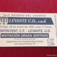 Coleccionismo deportivo: R769 ENTRADA TICKET LEVANTE ONTINYENT LIGA TEMPORADA 1998 1999. Lote 61031887