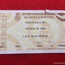 Coleccionismo deportivo: R778 ENTRADA TICKET REAL MADRID COPA DEL REY OCTAVOS DE FINAL. Lote 61032911