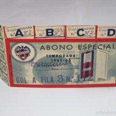 Coleccionismo deportivo: PASE ABONO ANUAL LEVANTE U.D. 1961. Lote 61187051