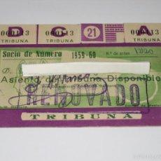 Coleccionismo deportivo: PASE ABONO ANUAL CAMPO MESTALLA CLUB DEPORTIVO MESTALLA (FILIAL VALENCIA C.F.) 1959. Lote 184801466