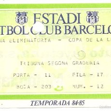 Coleccionismo deportivo: FÚTBOL CLUB BARCELONA. COPA DE LA LLIGA 1984-85. Lote 61251815