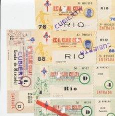 Coleccionismo deportivo: 5 ENTRADAS FUTBOL R.C. CELTA DE VIGO. Lote 262806805