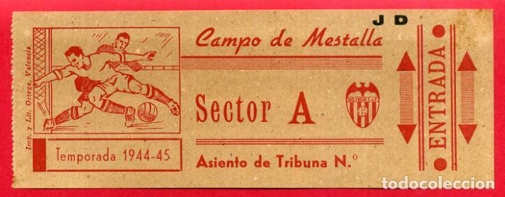 ENTRADA FUTBOL, TEMPORADA 1944 45 , VALENCIA CAMPO MESTALLA , ORIGINAL , EF3759 (Coleccionismo Deportivo - Documentos de Deportes - Entradas de Fútbol)