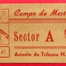 Coleccionismo deportivo: ENTRADA FUTBOL, TEMPORADA 1944 45 , VALENCIA CAMPO MESTALLA , ORIGINAL , EF3759. Lote 66929178