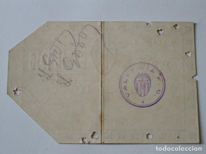 Coleccionismo deportivo: Entrada campo Mestalla 1936 Pase Anual Valencia C.F. - Foto 4 - 67212265