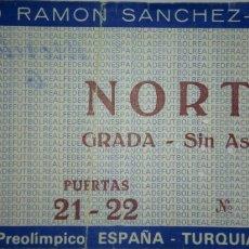 Coleccionismo deportivo: ENTRADA ESPAÑA VS TURQUÍA EN SEVILLA. Lote 229817980