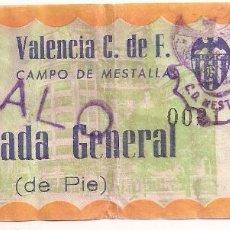 Coleccionismo deportivo: VALENCIA CLUB DE FÚTBOL. ANTIGUA ENTRADA. Lote 69074341