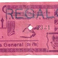 Coleccionismo deportivo: VALENCIA U.D. CASTELLONENSE DE CASTELLÓN. Lote 69074649