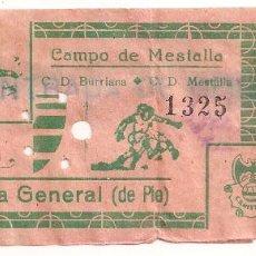 Coleccionismo deportivo: VALENCIA. C.D BURRIANA. Lote 69074857