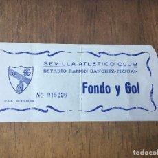 Coleccionismo deportivo: R1106 ENTRADA TICKET SEVILLA ATLETICO ESTADIO RAMON SANCHEZ PIZJUAN. Lote 72110515