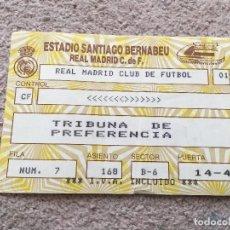 Coleccionismo deportivo: R1217 ENTRADA TICKET REAL MADRID CONTROL CF. Lote 73667963