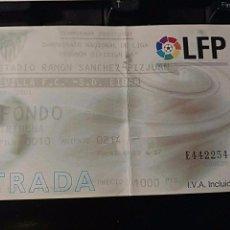 Coleccionismo deportivo: ENTRADA ENTRADAS FUTBOL FOOTBALL TICKET SPAIN ESPAÑA SEVILLA EIBAR. Lote 75612383