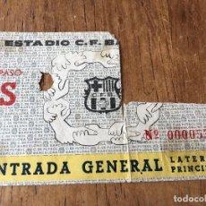 Coleccionismo deportivo: R1964 ANTIGUA ENTRADA TICKET BARCELONA. Lote 77181821