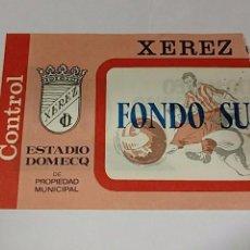 Coleccionismo deportivo: ENTRADA ENTRADAS FUTBOL FOOTBALL TICKET SPAIN ESPAÑA XEREZ JEREZ . Lote 77894401