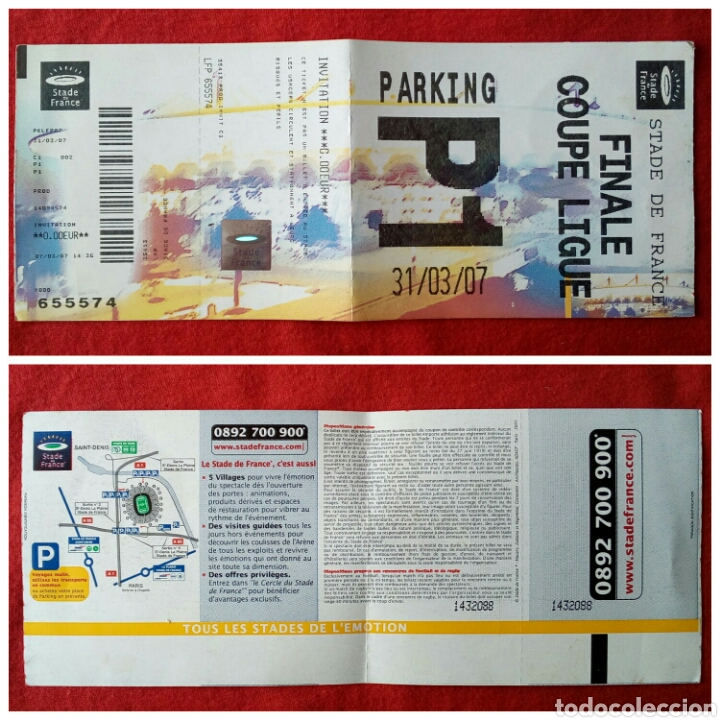 ENTRADA FINAL COPA LEAGUE ESTADIO DE FRANCIA (Coleccionismo Deportivo - Documentos de Deportes - Entradas de Fútbol)