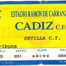 Coleccionismo deportivo: ENTRADA CADIZ CF-SEVILLA FC.. Lote 79151933