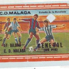 Coleccionismo deportivo: EF-54 ENTRADA DE FUTBOL MÁLAGA - AT. DE BILBAO. Lote 79270141