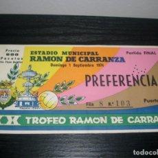 Coleccionismo deportivo: -XX TORNEO RAMON DE CARRANZA 1974 - BARCELONA - ESPAÑOL - PALMEIRAS - SANTOS. Lote 79503409