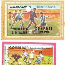 Coleccionismo deportivo: EF-77 DOS ENTRADAS DEL MÁLAGA - VALENCIA . Lote 79881537