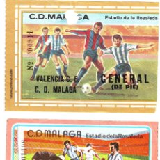 Coleccionismo deportivo: EF-79 DOS ENTRADAS DEL MÁLAGA - VALENCIA . Lote 79881821