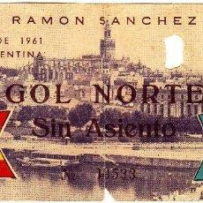 Coleccionismo deportivo: ENTRADA FUTBOL.ESPAÑA-ARGENTINA.11/06/1961.ANTIGUA.. Lote 80840815