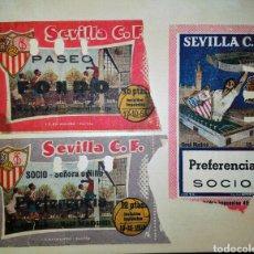 Coleccionismo deportivo: LOTE 3 ENTRADAS ANTIGUAS SEVILLA REAL MADRID AÑOS 53 54 Y 57. Lote 82759639