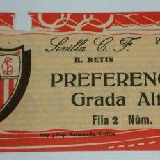 Coleccionismo deportivo: ENTRADA: PARTIDO SEVILLA F.C./BETIS.(1/3/27 ). Lote 82870118