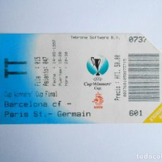Coleccionismo deportivo: BARÇA - ENTRADA FINAL RECOPA DE EUROPA 1997 - BARCELONA 1 / PARIS ST-GERMAIN 0 - NUEVA - FOTO DORSO. Lote 82923928